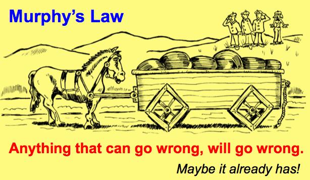 Марфијев закон, а можда већ иде наопако